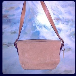 Coach Tan Brown Suede Leather Small Purse